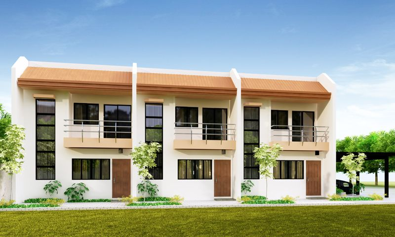 Another cozy and elegant design is this 3 door apartment for Two storey apartment design