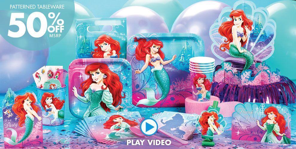 Little Mermaid Party Supplies Little Mermaid Birthday