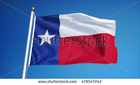 Texas Flag Waving Against Clean Blue Sky Close Up Isolated With Clipping Path Mask Alpha Channel Transparency Texas Flags Texas Photo Editing