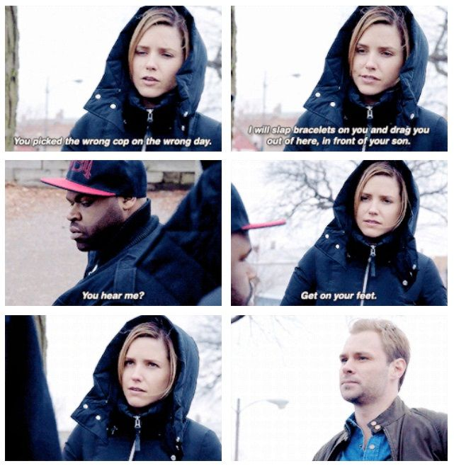 """""""You picked the wrong cop on the wrong day"""" - Lindsay (2x21)"""