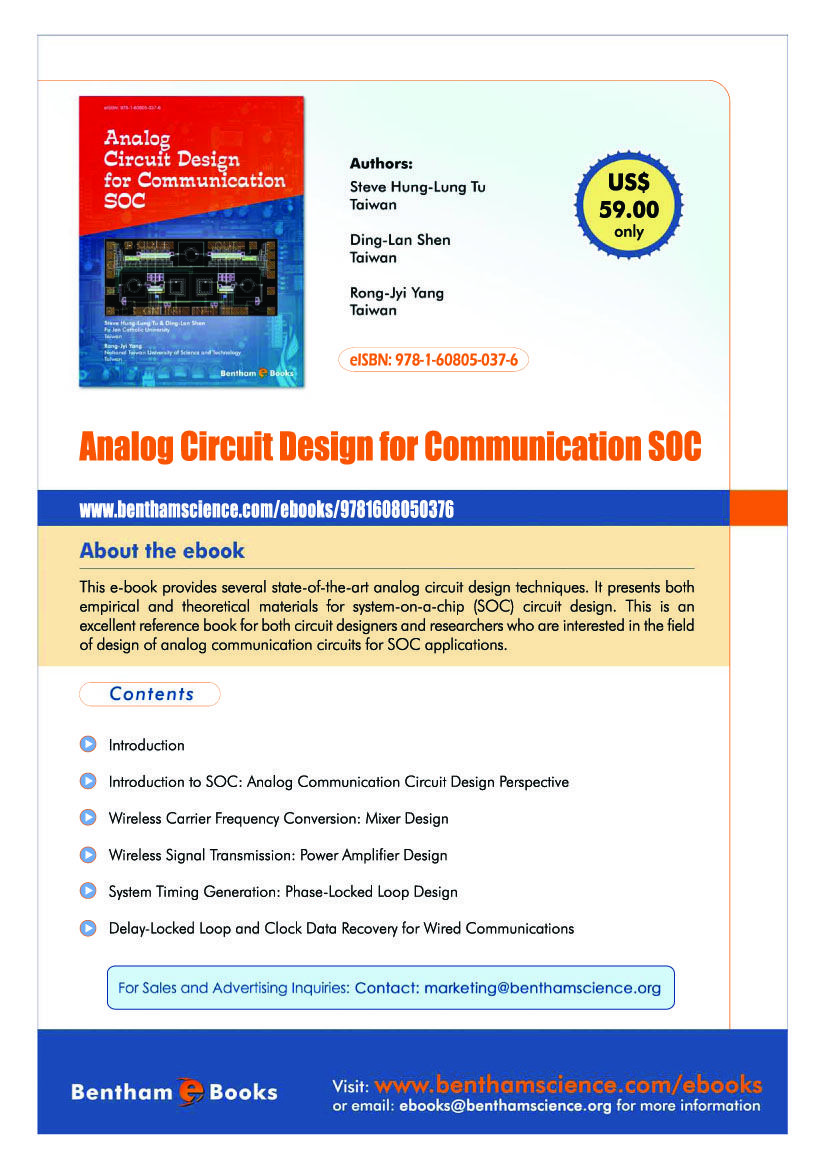 This E Book Provides Several State Of The Art Analog Circuit Design Delay