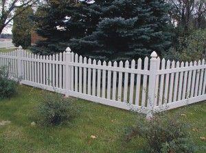 vinyl picket fence front yard. White Vinyl Picket Fence Front Yard R