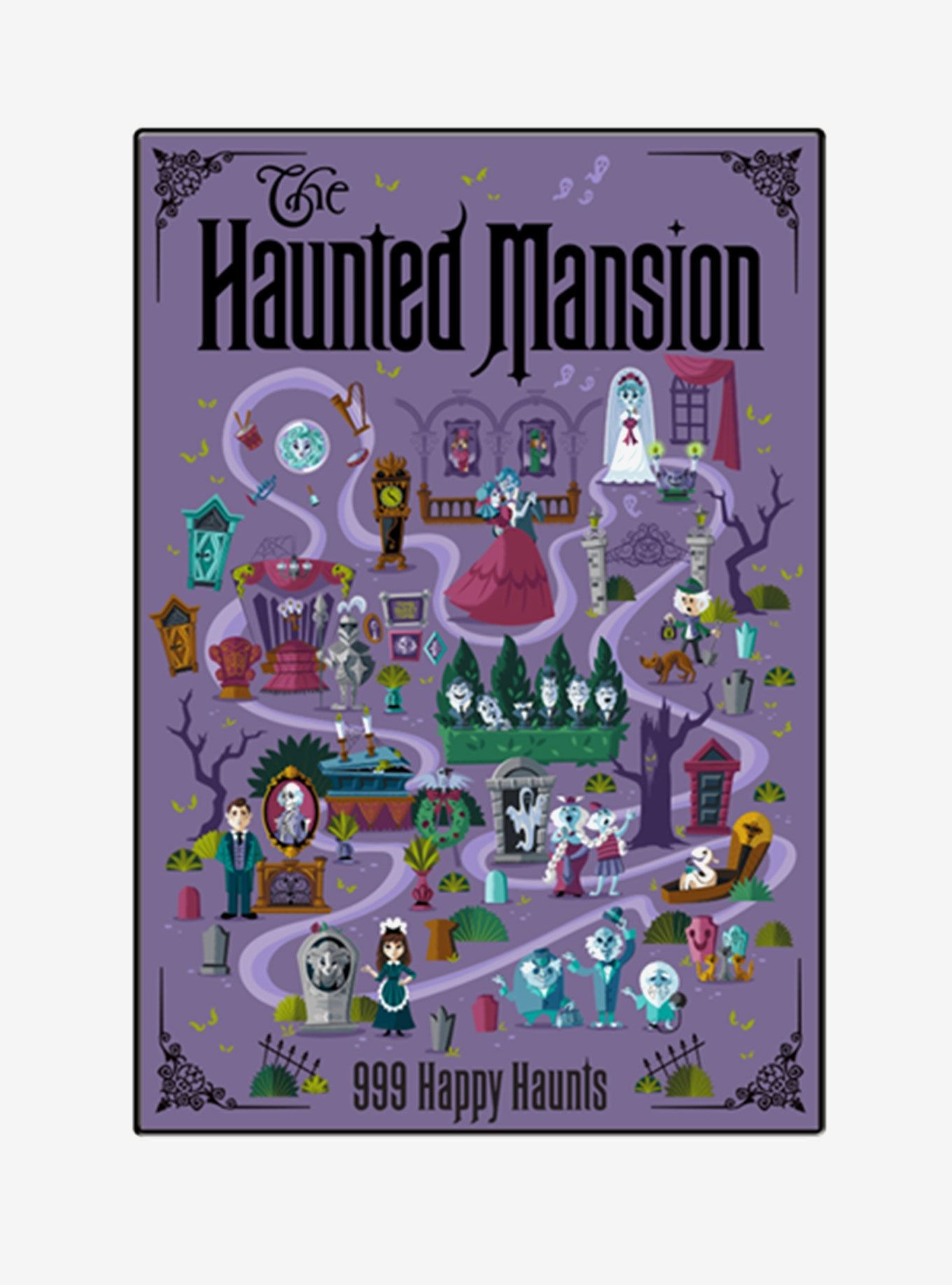 Disney The Haunted Mansion Map Wood Wall Art In 2020 Wood Wall Art Illustrated Map Wall Art
