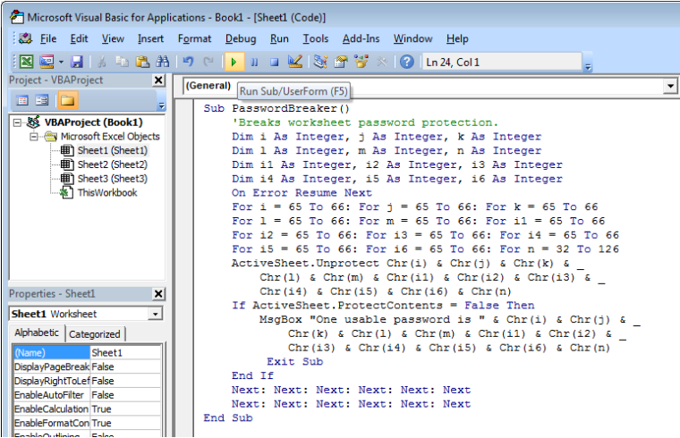This article will tel you how to unprotect an excel spread sheet ...
