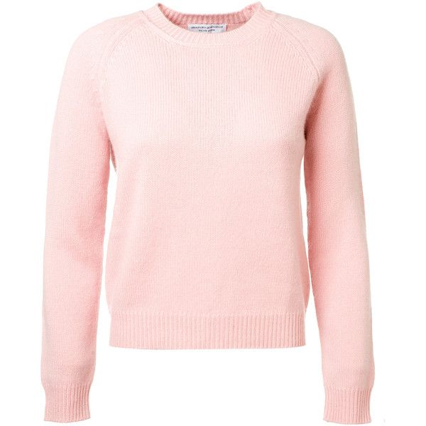 Alexandra Golovanoff Mila Light Pink Cashmere Sweater ($485 ...