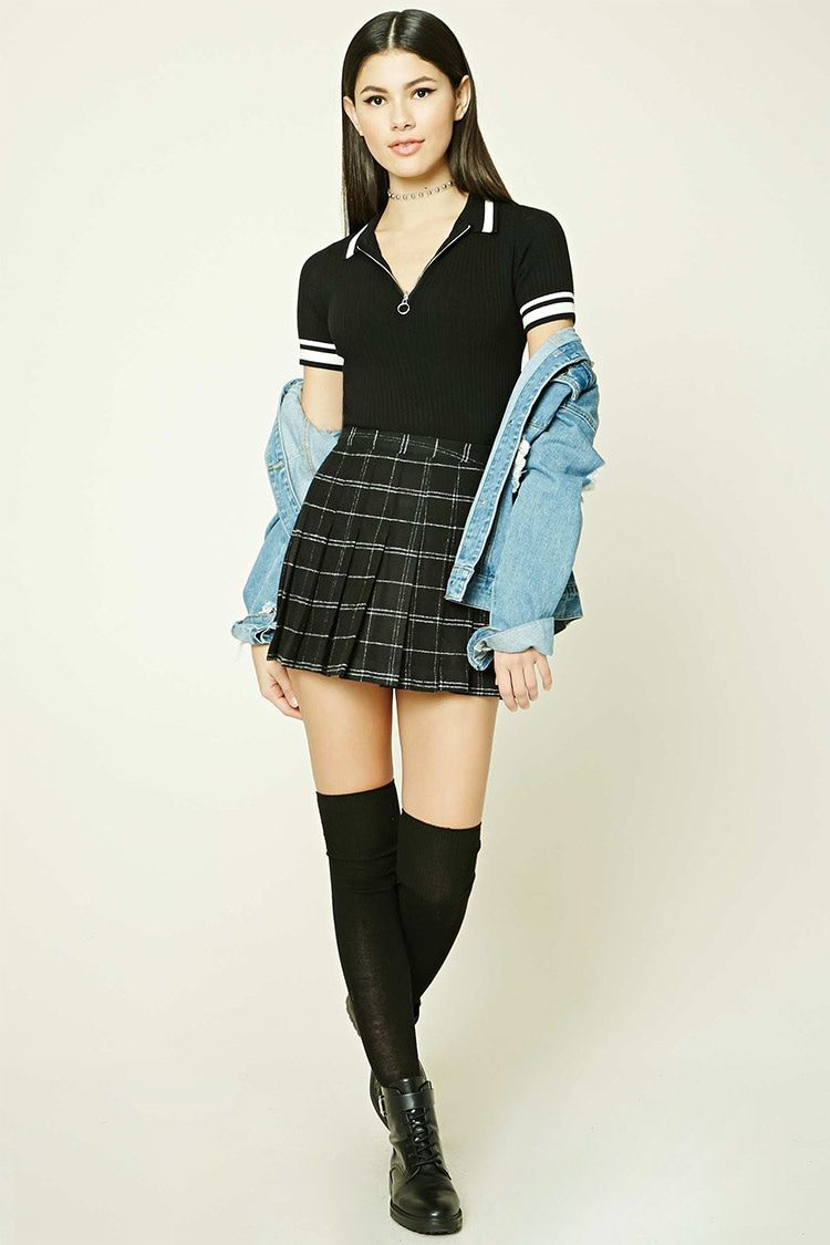 Tartan Plaid Mini Skirt - Women - Bottoms - 2000206969 - Forever ...
