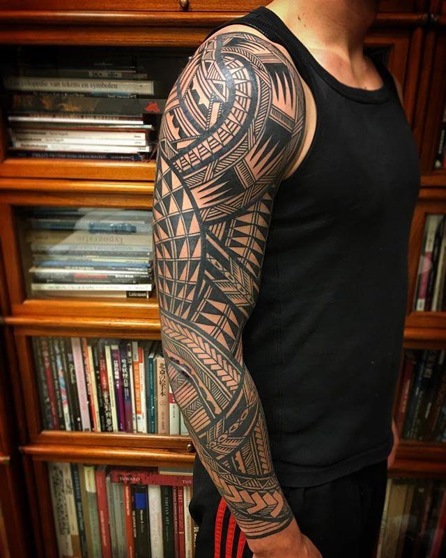 Stunning Tribal Tattoos By Jeroen Franken Tribal Tattoos Polynesian Tattoo Samoan Tattoo