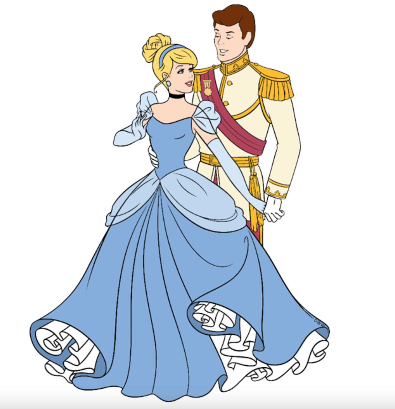 картинка золушка танцует с принцем сам себе
