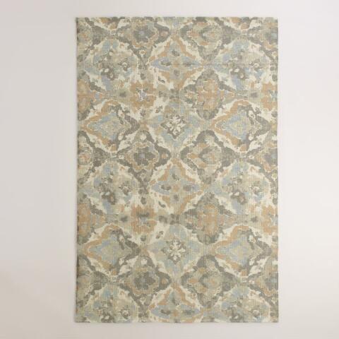 5 X8 Casablanca Tiles Wool Dhurrie Area Rug World Market