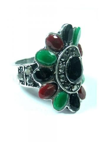Ring Cubic Zirconia Rings Boho Oxidized Silver Tone Jewelry #jewelery #ring #Zirconia Rings