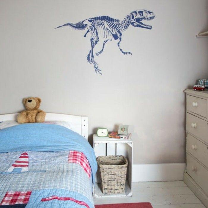 Trend wandtattoo im kinderzimmer dinosaurier motiv