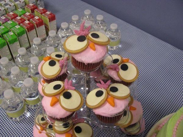 Googly eye owl cupcakes.  Too cute!