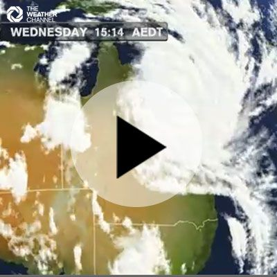 Tropical Cyclone Yasi Satellite Image Approaching Australia The Weather Channel Severe Weather Cyclone Typhoon The Weather Channel Severe Weather Weather