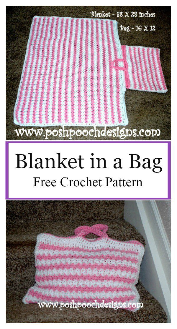 Blanket in a Bag Free Crochet Pattern | Baby Blankets, Etc ...