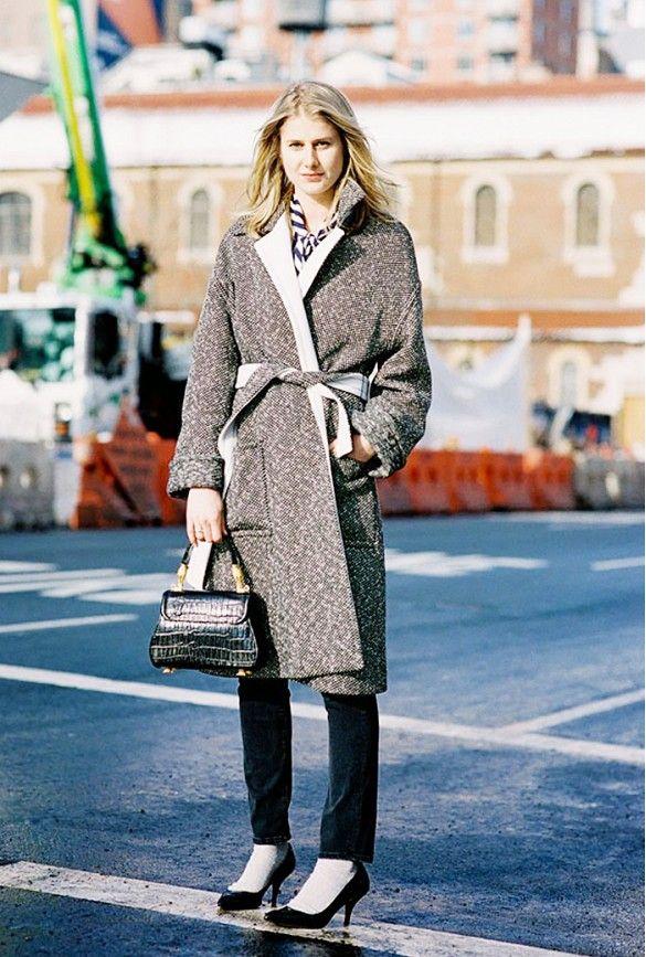 The Best Coats for Every Zip Code | Wrap coat, Tweed and Pumps