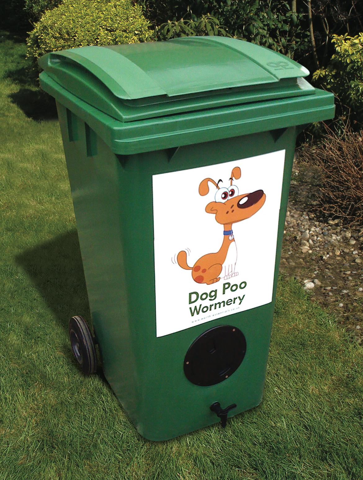 Worm dog poop composter