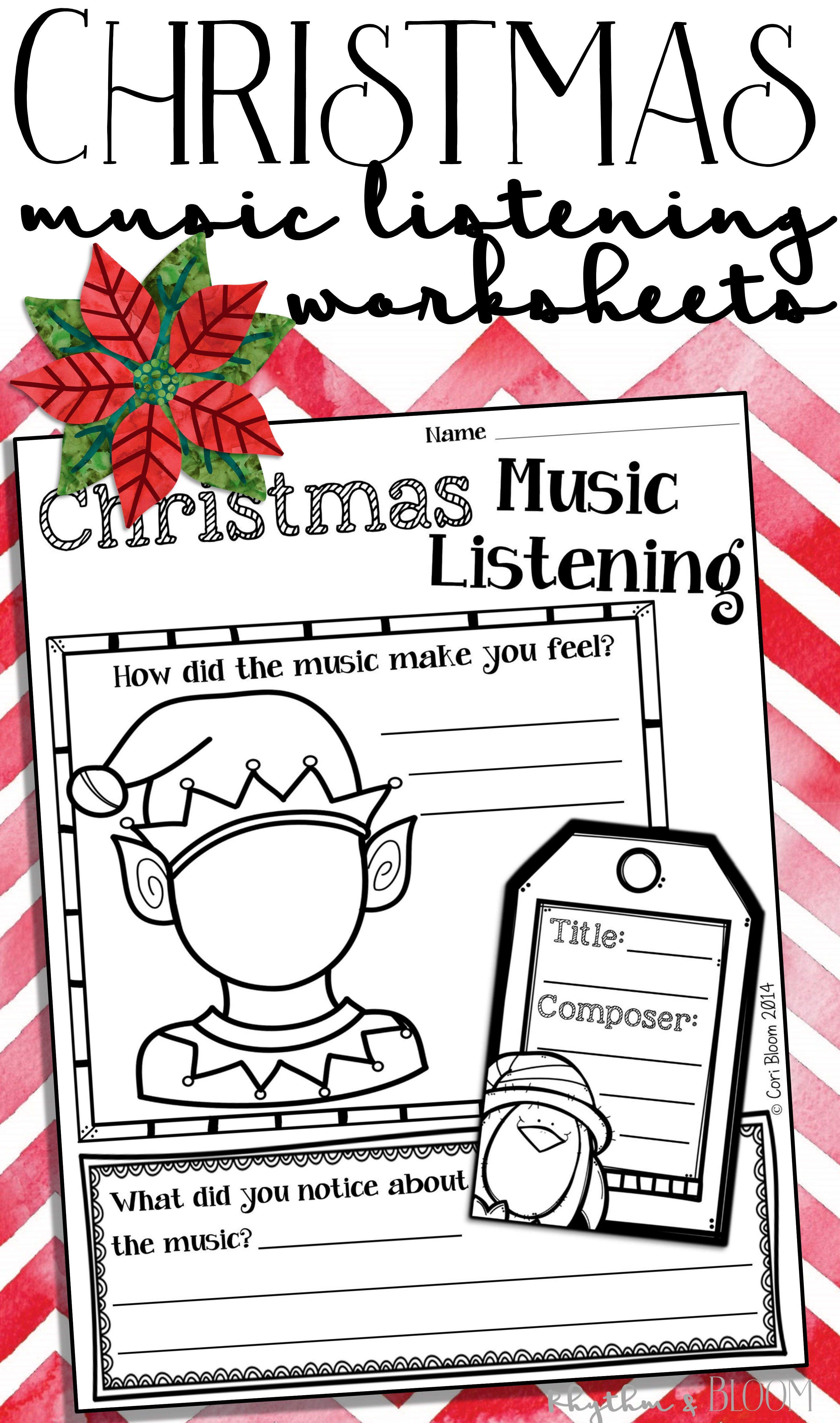 FREE Christmas & Winter Holiday Music Listening Worksheets: Easy to ...