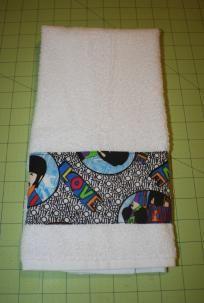 White Beatles Yellow Submarine Hand Towel $9.99