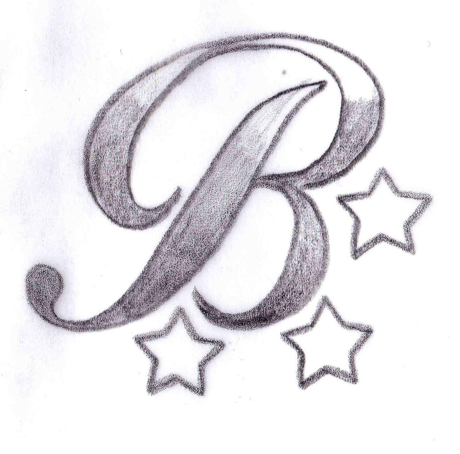 Letter B tattoo design 12 1600—1577