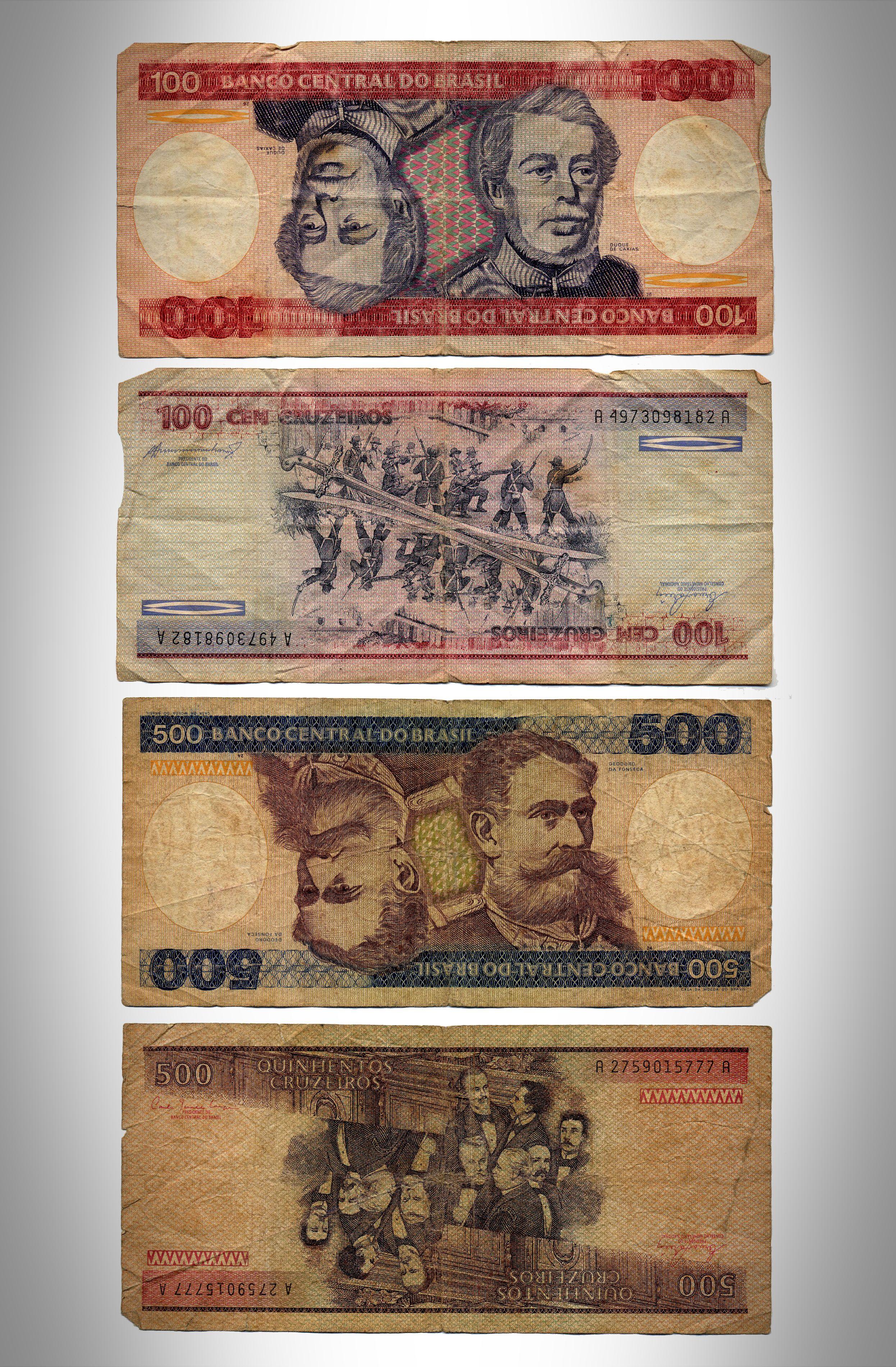 Cruzeiro (Cr$) vigente de 15.5.1970 a 27.2.1986