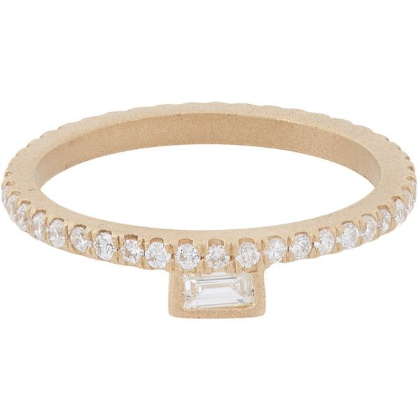 Monique Péan Diamond & Gold Stacking Band (11.378.200 COP) ❤ liked on Polyvore featuring jewelry, rings, colorless, band rings, baguette diamond rings, stackable rings, 18 karat gold ring and diamond band ring