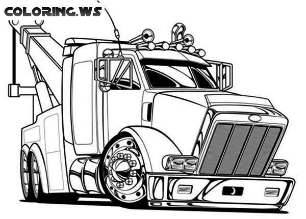 Big Semi Truck Coloring Page | Truck Coloring Pages | you ...