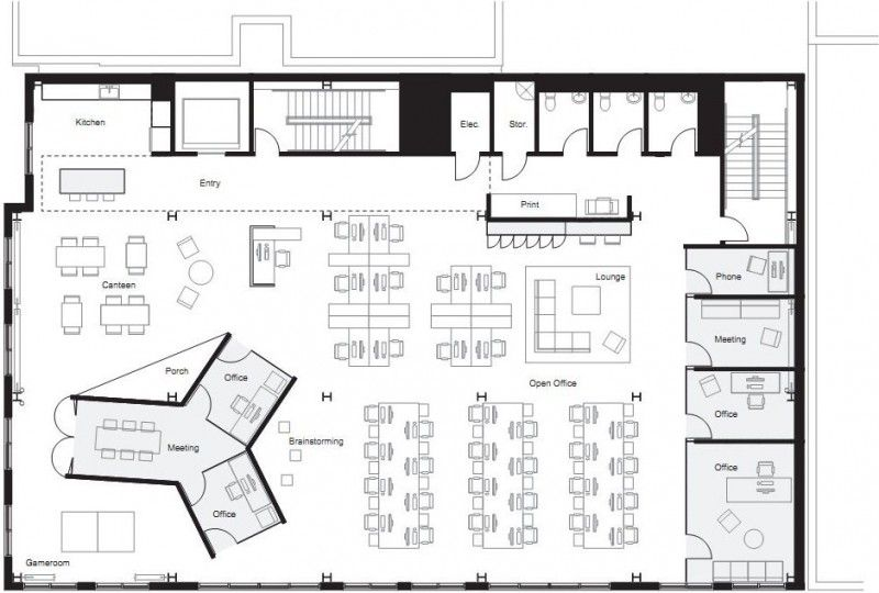 Fine By Boora Architects Office Floor Plan Architect Office Interior Office Layout Plan