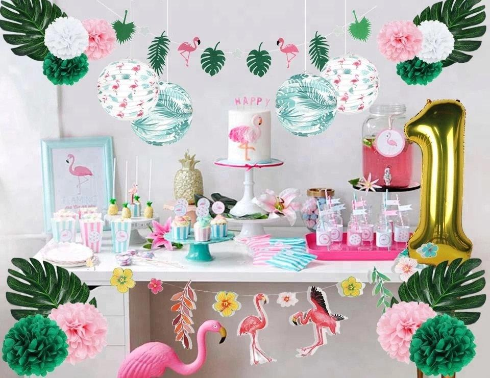 First Year Party For Girls 1st Year Birthday Party Tropical
