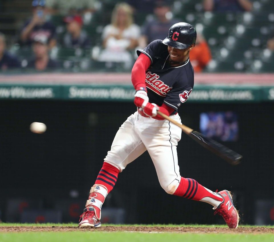 Cleveland Indians Francisco Lindor Connects For A Solo Home Run In The 8th Against The Minnesota Twins At Progressive Cleveland Indians Minnesota Twins Indians