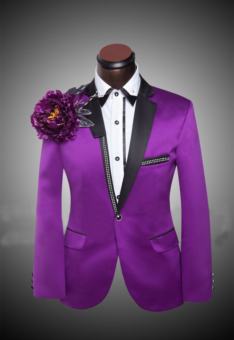 Purple Prom Suits for Men | ... Suit Cheap Red Tuxedo Jacket Purple ...