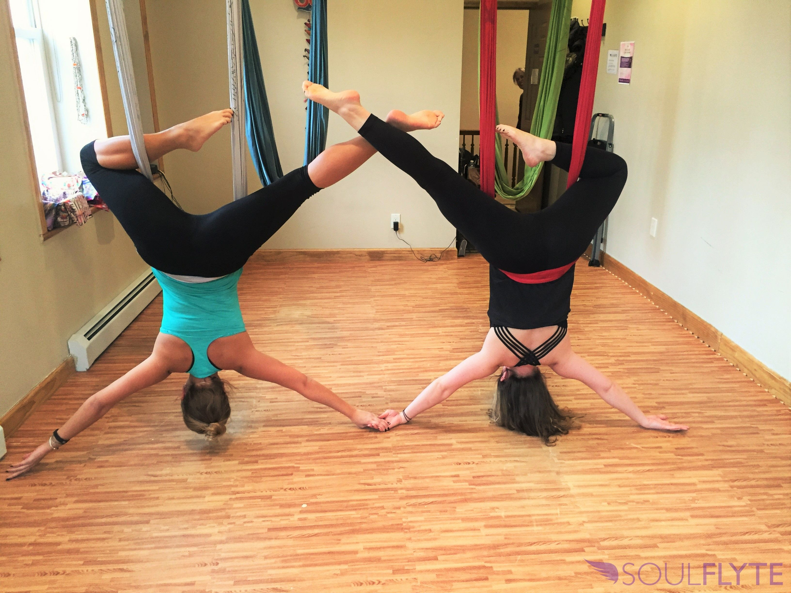 Want To Spend Valentine S Day Hanging Out In The Hammock With Your Favorite Partner We Re Hosting A Valentine Aerial Yoga Poses Aerial Yoga Acro Yoga Poses