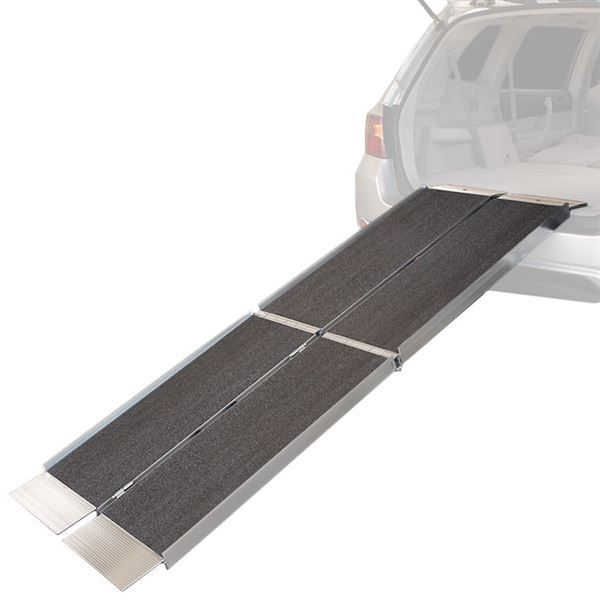 Ez Access Suitcase Aluminum Trifold Wheelchair Ramp 800 Lbs Capacity Wheelchair Ramp Loading Ramps Portable Wheelchair Ramp