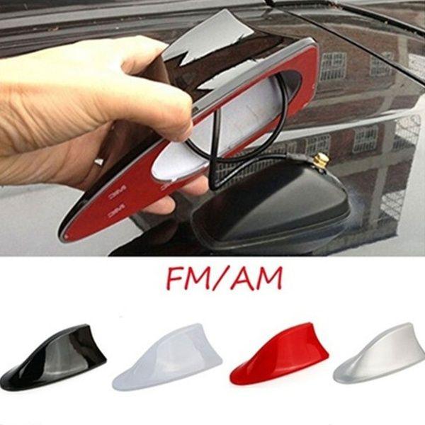 Universal  Car Exterior Shark Fin Roof Antenna Radio FM//AM Deco Aerial for BMW