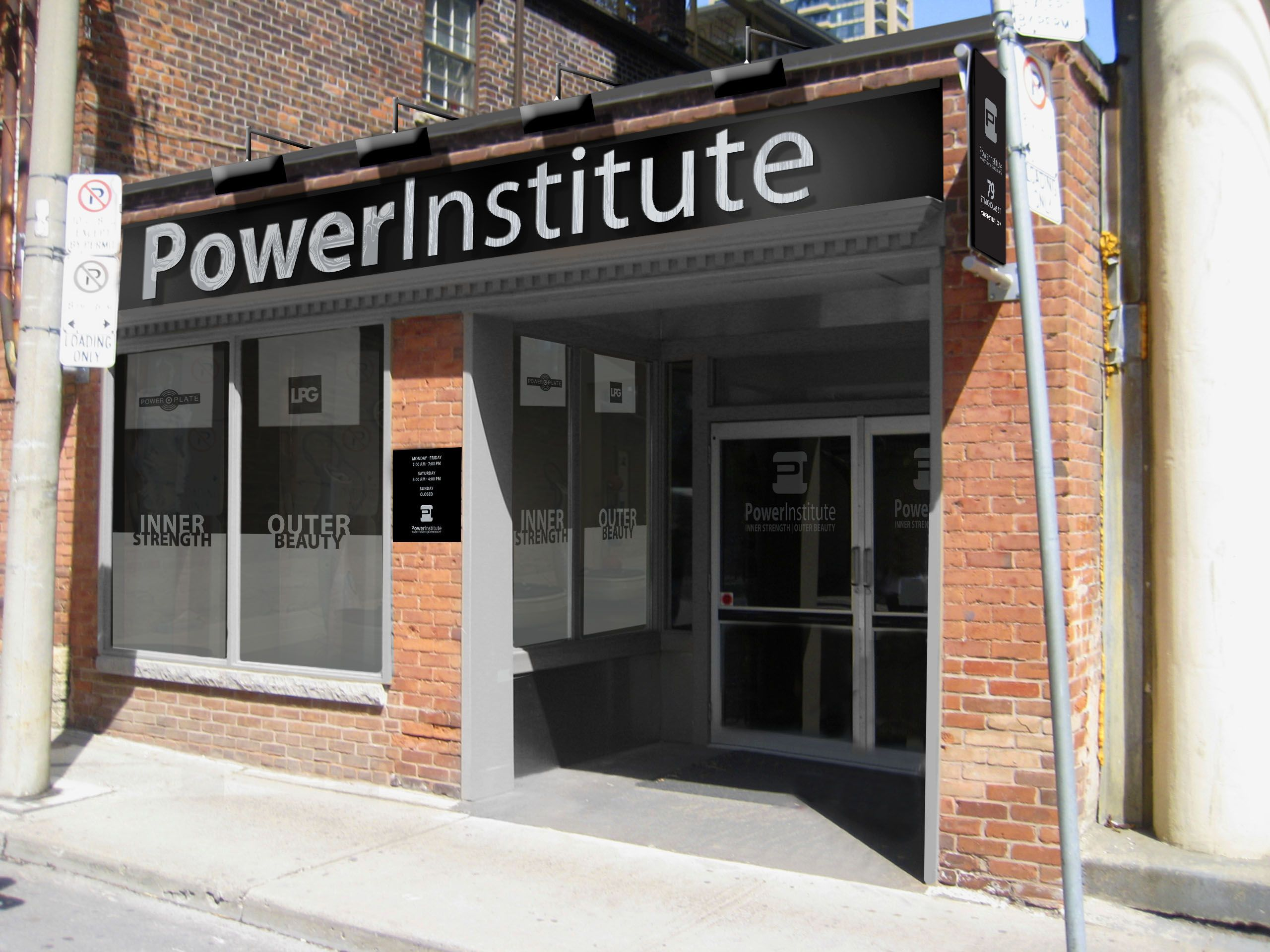 Powerinstitute Crezon Panel With Brushed And Polished Stainless Steel With Images Storefront Signs Outdoor Decor Store Fronts