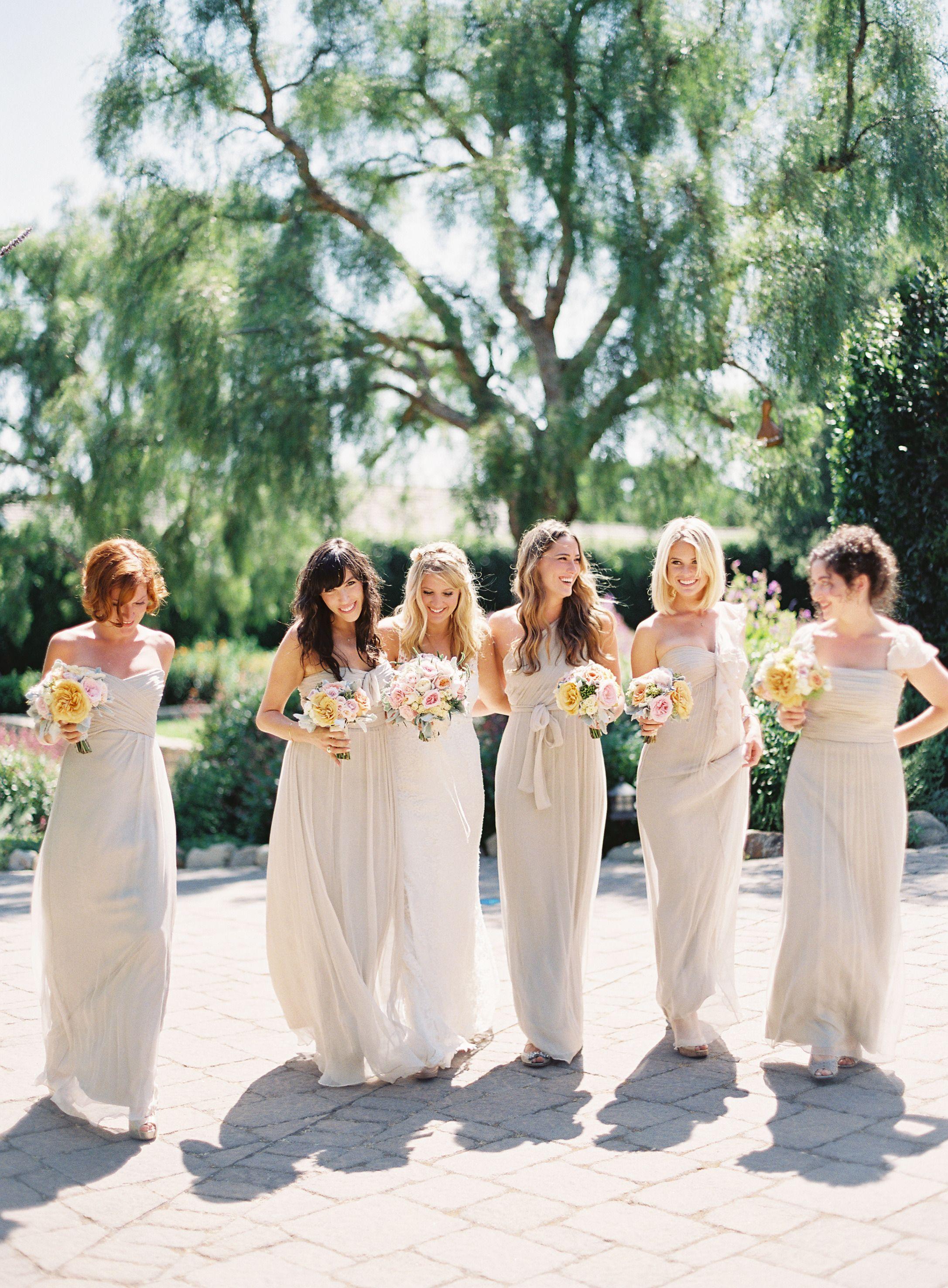 San Ysidro Ranch Wedding From Patrick Moyer Photography Matching Bridesmaids Dresses Bridesmaid Wedding Bridesmaid Dresses [ 2952 x 2173 Pixel ]