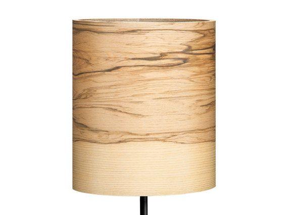 table lamp/night light/wooden lamp/veneer lamp/desk by Sponndesign