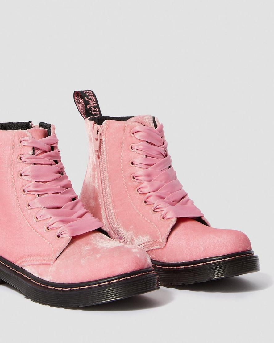 New Cute Girls Youth Kids Shoes Lace Up Combat Ankle Fashion Boot Fuchsia Tan