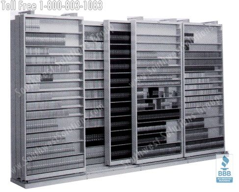 High Capacity Sliding Storage Shelves Storing Mixed Media Oklahoma City  Kansas Little Rock Tulsa Wichita