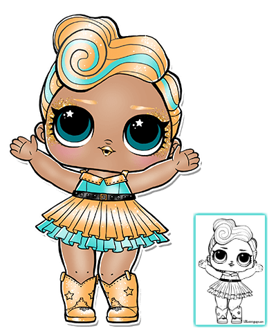 Dramatic image regarding lol surprise doll coloring pages printable