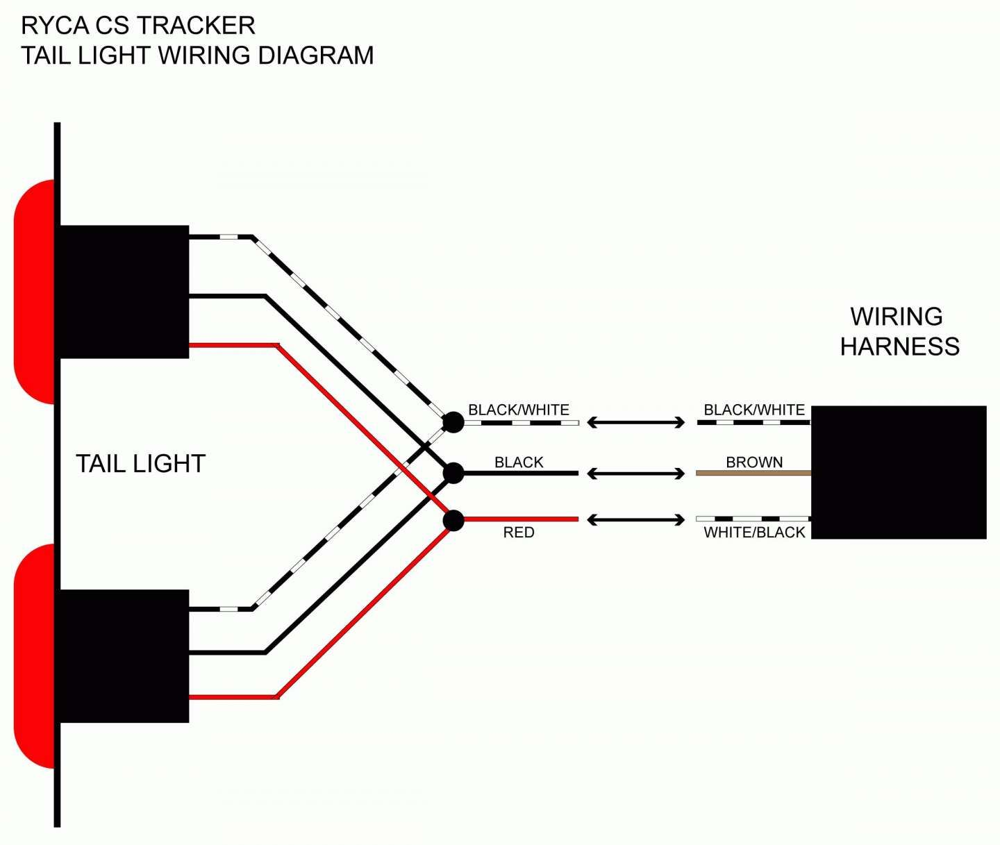 17+ Motorcycle Tail Light Wiring Diagram3 wire tail light