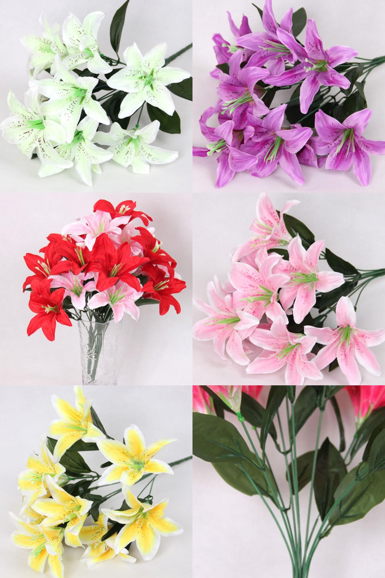 Visit to Buy] 10 Heads Wedding Floral Home Decor Flower Real Touch ...