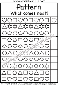 Patterns What Comes Next 1 Worksheet Pattern Worksheet