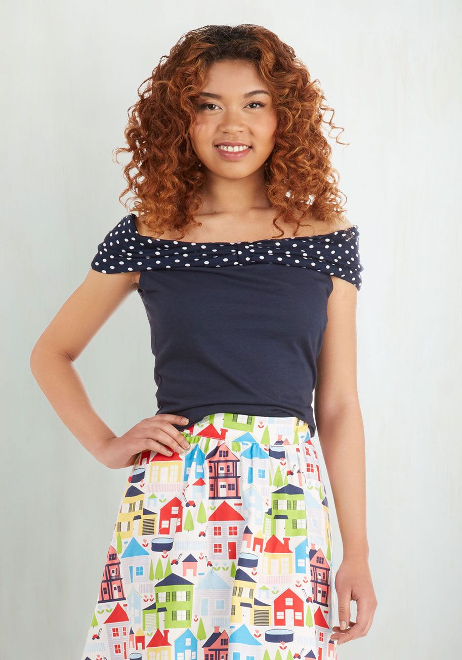 Sweet Sing-along Top. A road trip with your buds has you belting out all the best tunes. #blue #modcloth