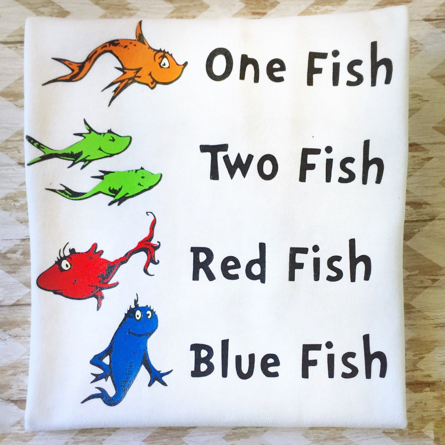 Dr. Seuss Shirt - One Fish Two Fish Red Fish Blue Fish - Dr. Seuss ...