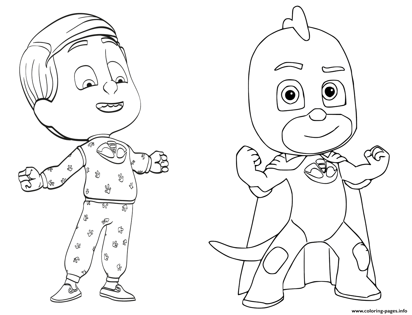 Print Greg Is Gekko From PJ Masks Coloring Pages