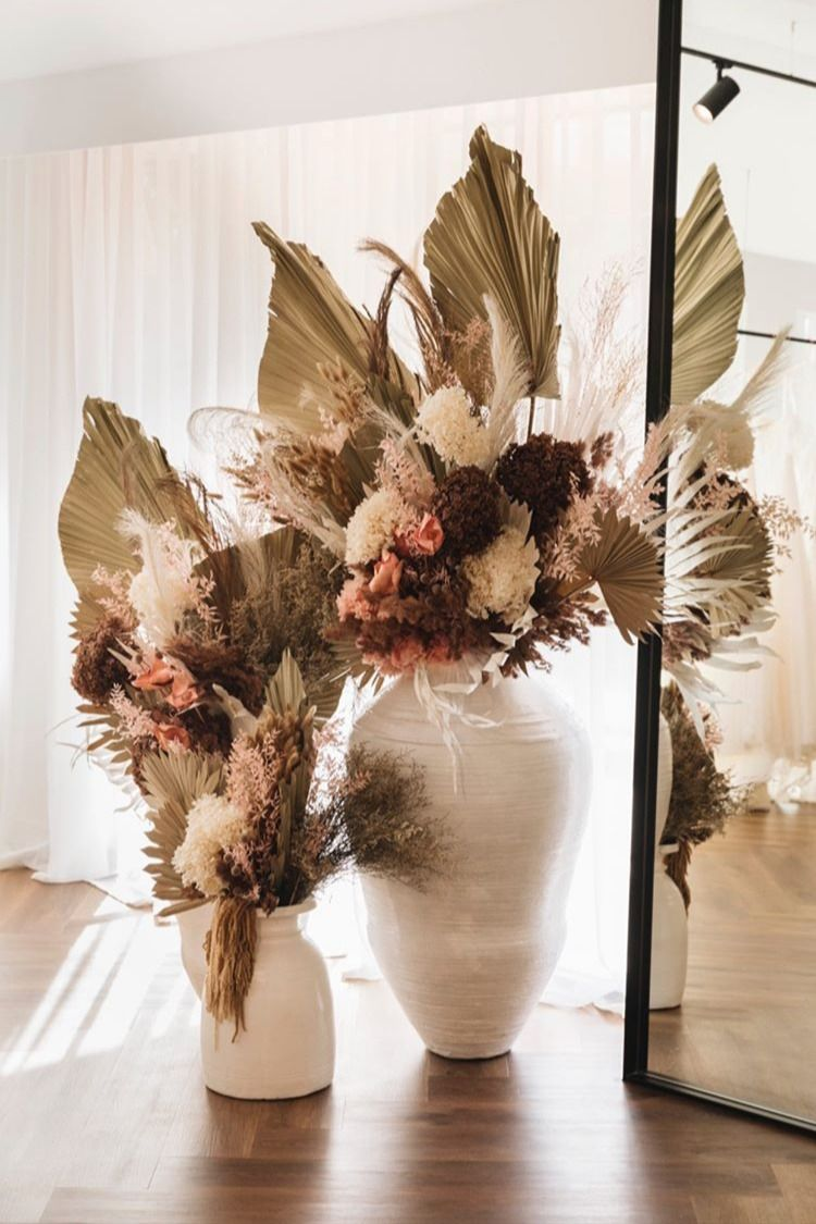 Uniqwacollections Beautiful Large White Insingizi Vases And Original Naga Pot Creating The Per In 2020 Dried Flower Arrangements Large Flower Vases Dried Floral Decor