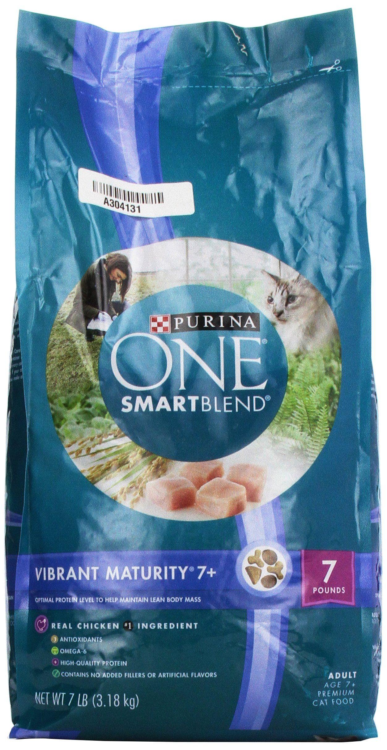 Purina one vibrant maturity cat food