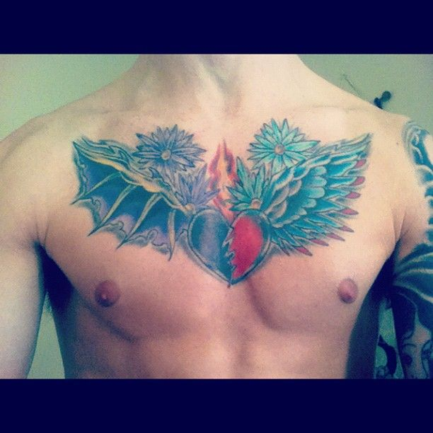 Don't have many chest tat pics.. Here's one #tattoos #ink ...