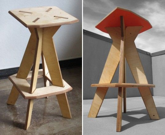Astonishing New Rados Flat Pack Intension Stools Surprise With Bold Theyellowbook Wood Chair Design Ideas Theyellowbookinfo