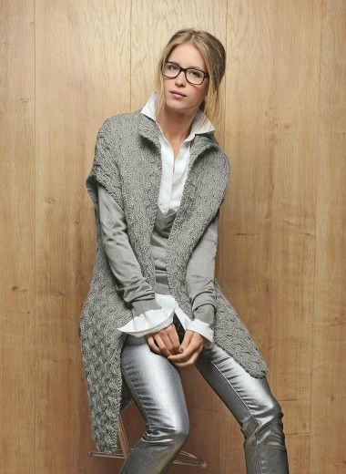 modele tricot gilet a capuche femme
